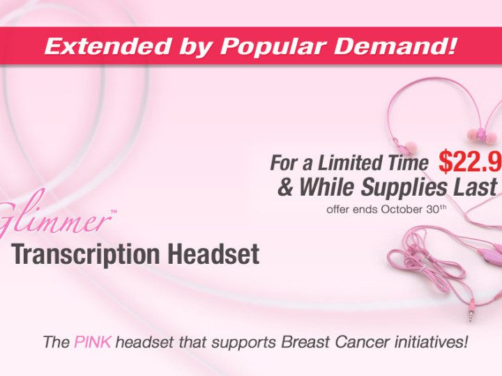 EXTENDED – Save big on the headset that supports Breast Cancer initiatives!