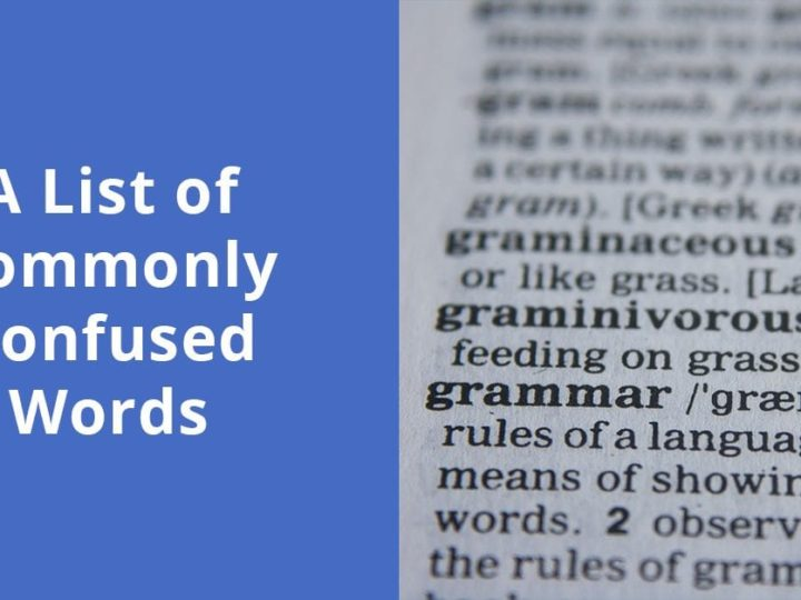 A List of Commonly Confused Words